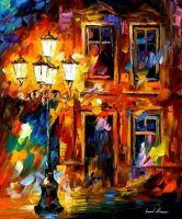Old light oil painting on canvas by L.Afremov by Leonidafremov