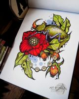 Tattoo sketch. Neotraditional by AsikaArt