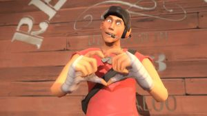 valentine fortress 2014: scout (Red) by qatarz
