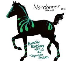 Olympian Stables - Butterfly Nordanner Design #2 by beaublanc
