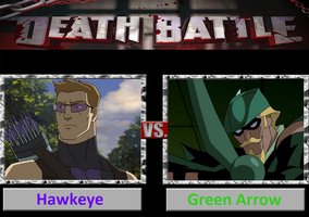 Death Battle: Hawkeye Vs Green Arrow by DarkKomet