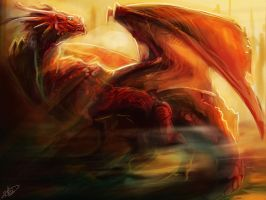 Fire Dragon by Lumaris