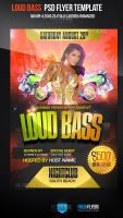 Loud Bass Club Flyer Templates by ImperialFlyers