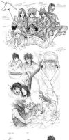 legend of the five rings SKETCHDUMP by Razuri-chan