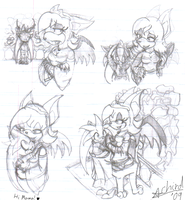 SatBK: Mama and Gilly Sketches by Achird