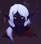 Dark Elf Portrait by hk4ever