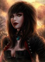 Ekadia the Werewolf Hunter by Denahelmi by JadeEclypseDesigns