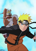 Naruto and Killer Bee by GoLD-MK