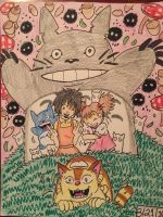 My Neighbor Totoro: Friends of Totoro  by GhibliLover92