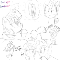 mlp sketches 3 by CosmicPonye