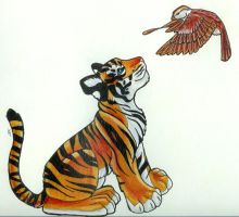 SparrowTiger by WhiskerWing