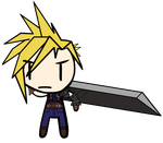 [Custom Walfas] - Cloud Strife by Disgaea4everdood