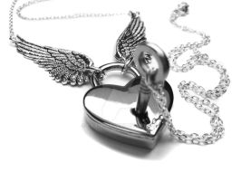 Engraved Heart Shaped Padlock Necklace by pila12903