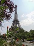 Eiffel tower from over the road by EUtouring