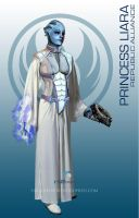 Star Wars Mass Effect Crossover Princess Liara by rs2studios