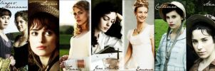 Jane Austen Characters by agussballester