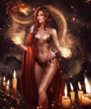 Red Summoned Dragon by Ron-faure