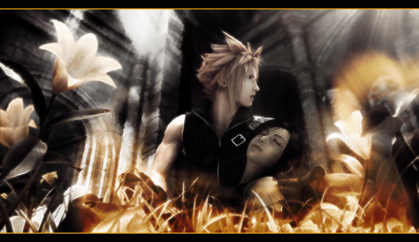 Cloud and Tifa by Tsubasa974