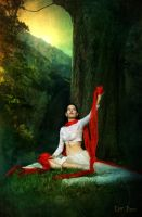 The woman with the red veil by LilifIlane