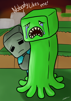 Nobody likes creepers by Debstarr