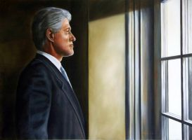 Portrait of President William Jefferson Clinton by RBMcGrath