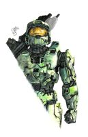 --HALO 3-- Master Chief by Kamino185
