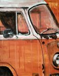 Rusty Orange Bus by kirkfinger