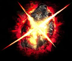 Exploding Grenade T shirt Design. by daunted