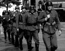 Germans on the March by WestytheTraveler