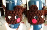 free amigurumi bear coffee cozy pattern by hellohappycrafts