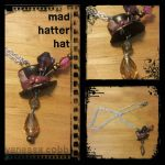 Mad Hatter Hat Necklace  by KawaChou