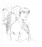 Superboy Sketch by RAHeight2002-2012