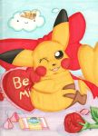 Valentine's Day Pikachu by MattTheUmbreon