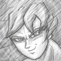 SSJ Goku Sketch by Fuzzleh