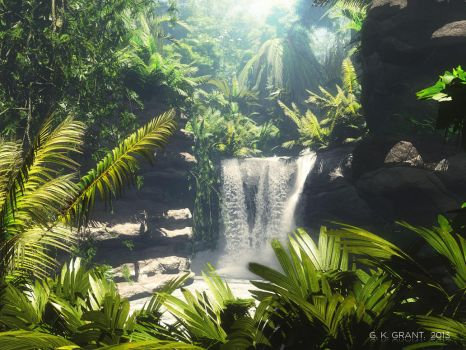 Tropical Falls by phaceless2