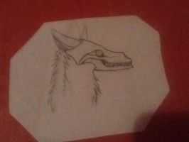 Wolf drawing by Isa1232