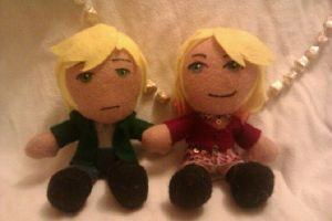 Silent Hill 2 - James and Maria plushies by AliceOfTheRose