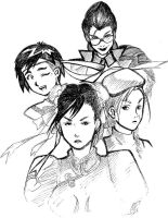 Street Fighter 4: Four Ladies by alissontorreao