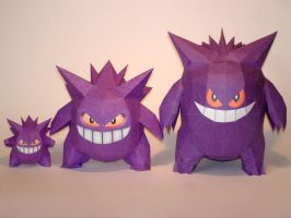 I heart Gengar Papercrafts by Skele-kitty