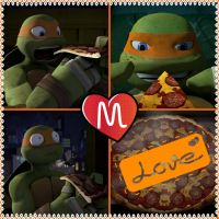 TMNT:: Mikey loves pizza by Culinary-Alchemist