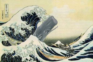 Great Wave Meets Moby Dick by OpenMind989
