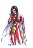 spiderwoman MARKER MADNESS by deemonproductions