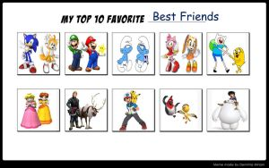 Top Ten Favorite Best Friends by mariosonicfan16