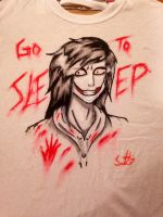 Jeff The Killer Shirt (2) by OurMotherJenova