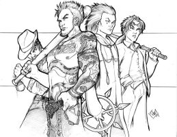 Liam, Vaughn, Axel, and Reno by ComfortLove