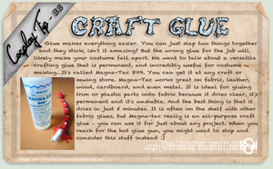 Cosplay Tip 33 - Craft Glue by Bllacksheep