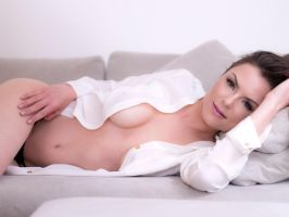 Lounging in a shirt by photonutz
