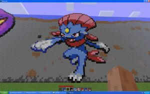 Weavile On Minecraft by Miccopicco