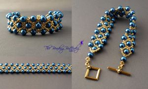 Netted Bracelet - Wide Version by beadg1rl