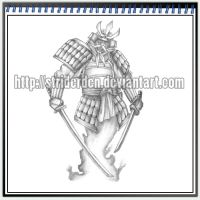 Tattoo Design 048 - Samurai by StriderDen